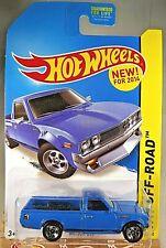 2014 Hot Wheels Kmart Exclusive #139 HW Off-Road Hot Trucks DATSUN 620 Blue w5Sp
