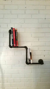Rustic Industrial Pipe Bookcase | Vintage/Steampunk/Industrial Pipe Bookshelf