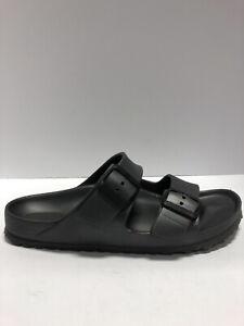Birkenstock Women's Arizona Eva, Gray Slide Sandals, Size EUR 40, US 9 Narrow.