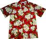 Camicia Hawaiana / 100% poliestere / M-6XL / Hawaiiana Hawaii Hawai fiori rosso