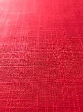 Red Basic Cotton Linen Fabric Covington Fabric BY THE YARD NEW!