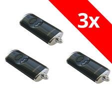 3 x Hörmann Handsender HSE2BS HSE 2 868,3 Mhz BiSecur schwarz hochglanz 436754