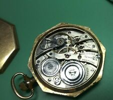 Antique Gold Filled 21 jewel burlington pocket watch in original octagon case