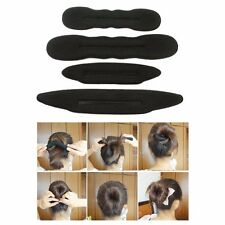 4 PACK x HAIR STYLE BUN FOAM DONUT SHAPER STYLING TOOL FRENCH TWIST DANCE BLACK