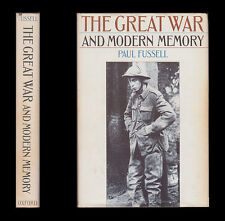 1975 Paul Fussell  THE GREAT WAR AND MODERN MEMORY  Blunden Graves Sassoon Owen