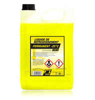 Liquide de refroidissement jaune -25°C Type D 5L FL'AUTO