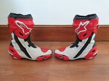 Alpinestars Supertech R Motorcycle Motorbike Race Boots - Red/White EU 43 UK 9