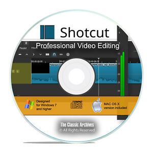 Professional Digital Video Editing Software, Shotcut Studio, Windows/Mac CD I06