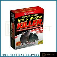 2 x Rodent Poison Blocks Bait Killer Strong Strength Rat & Mouse Control POISON