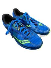 Mens Saucony Kinvara 7 Everun Running Shoes Sneakers Blue Green Size 9