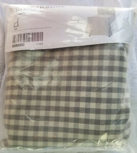 IKEA Sagmyra Gray check Cover for HENRIKSDAL Chair Long Slipcover Grey Linen Bld