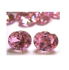 X2 11 x 9 mm Oval Brilliant Russian Pink CZ AAAAA, WITH FREE GEM JAR