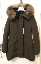78977e94e0e NWT Authentic 2018 Moncler Monticole Long Parka Coat W/ Fur Trim Olive Size  3