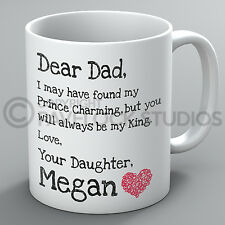Personalised Dear Dad My King Mug Father's Day Daddy Birthday Present Tea Gift