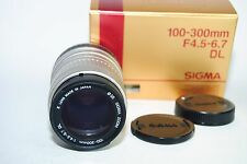 SIGMA 100-300MM F4.5-6.7 DL AUTO FOCUS LENS FOR SONY ALPHA / MINOLTA