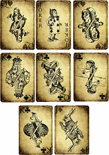 Alice In Wonderland Sepia Playing Cards ~ Party Decorations Props / Card Making