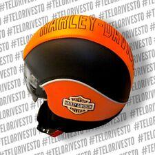 Casco Harley Davidson visiera interna scomparsa personalizza in pelle Bar Shield