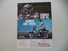 advertising Pubblicità 1982 CIMATTI GRINGO 50