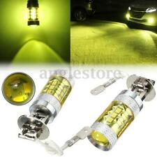 2pcs H3 60W 16SMD LED 4300K Fog Light Yellow White DRL Projector Xenon Lamp Bulb