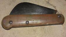 Ancien couteau pliant Serpette gravé 108 GIRODIAS manche en corne de bovin