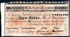 Facsimil Billete 100 Pesos Banco Español de la Habana 1874 - Reproduction