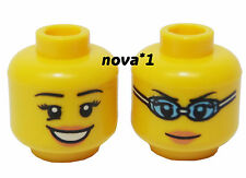 LEGO HEAD FEMALE  GIRL OPEN SMILE  DUEL SIDED FOR MINIFIGURE NEW