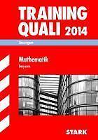 Abschluss-Prüfungsaufgaben Training Quali Mathematik 2014 Lösungen....