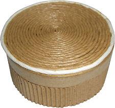 Geschenk - Schachtel / Box Rund, natur - 8,5 x 8,5 x 4 cm Aufbewahrung NEU