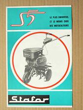 Prospectus  Motoculteur STAFOR  S5    non daté  brochure catalogue tracteur