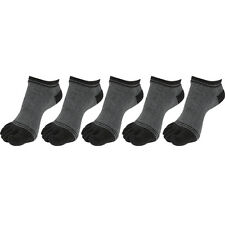"""NEW 5 Pairs Mens Cotton Low-Cut Toe Socks """"Skin contact surface with 100% cotton"""