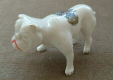 Bulldog LOWESTOFT Crested China cane modello DOG Figurina Ornamento Cane