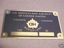 DeHavilland Aircraft Canadian DH-4 Data Plate