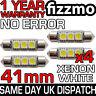 4x 41mm 264 C5W SV8.5 6000k BRIGHT WHITE 3 SMD LED FESTOON LIGHT BULB ERROR FREE
