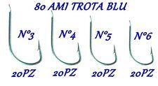 kit 80 ami blu da pesca alla trota lago n° 3 - 4 - 5 - 6 recupero lago camola