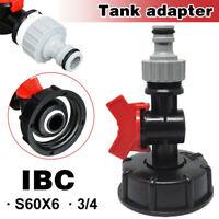 """IBC Adapter Zubehör 3/4"""" Regenwassertank IBC Container Wasserhahn Verbinder"""