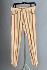 Vtg Men's 1960s Nos Striped Flare Leg Capers Pants 30x30 60s Flares