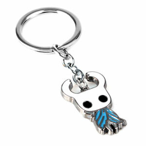 4CM Game Hallownest Hollow Knight Key Chain Porte Cles Toy Ghost Keyring Pendant