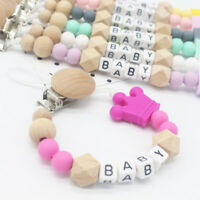 Soother Chew Toy Dummy Silicone Crown Baby Teething Pacifier Chain Dummy Clips