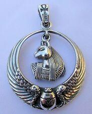 Plata Esterlina (925) egipcio Anubis Escarabajo Alas Colgante!!! Nuevo!!!