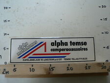 STICKER,DECAL LARGE ALPHA TEMSE MOTORHOMES CAMPERACCESSOIRES 30 CM A