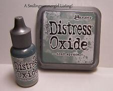 Distress Oxide Ink Pad and Reinker Iced Spruce Tim Holtz Ranger Stamping Set
