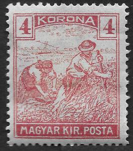 "Hungary Stamp 1920-1924 Reaper - Inscription "" Magyar Kir Posta"" 4 Kr (GBX)"