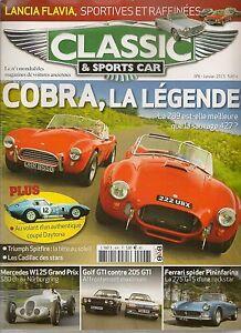 CLASSIC & SPORTS CAR 6 S2 MERCEDES W125 AC COBRA 289 427 DAYTONA LANCIA FLAVIA