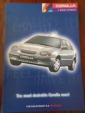 Toyota Corolla 5 Door Liftback range brochure Dec 1997