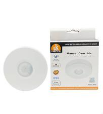 "Ceiling PIR Infrared Motion Sensor 360"" manual override IP65 bathroom"