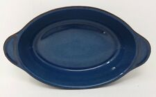 "Denby Boston - Blue - 9"" Oval Entree Dish - Round Eared - First Quality - VGC"