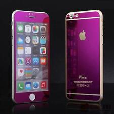 New Mirror Effect Purple Tempered Glass Protector FOR iPhone 6PLUS Front & Back
