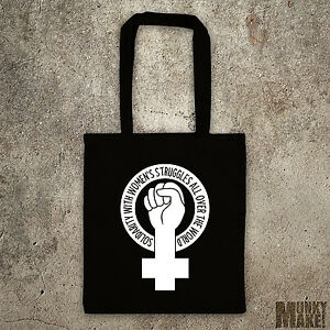 feminist tote bag SOLIDARITY with Women's struggles feminism protest, eco