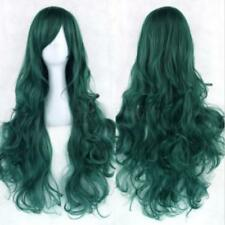 Women Fashion Lady Anime Long Curly Wavy Hair Party Cosplay Full Wig 80cm Green