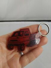 Vintage All Season Vehicles Track Truck Marcell, Mn Keychain Fob Key Ring *Qq11